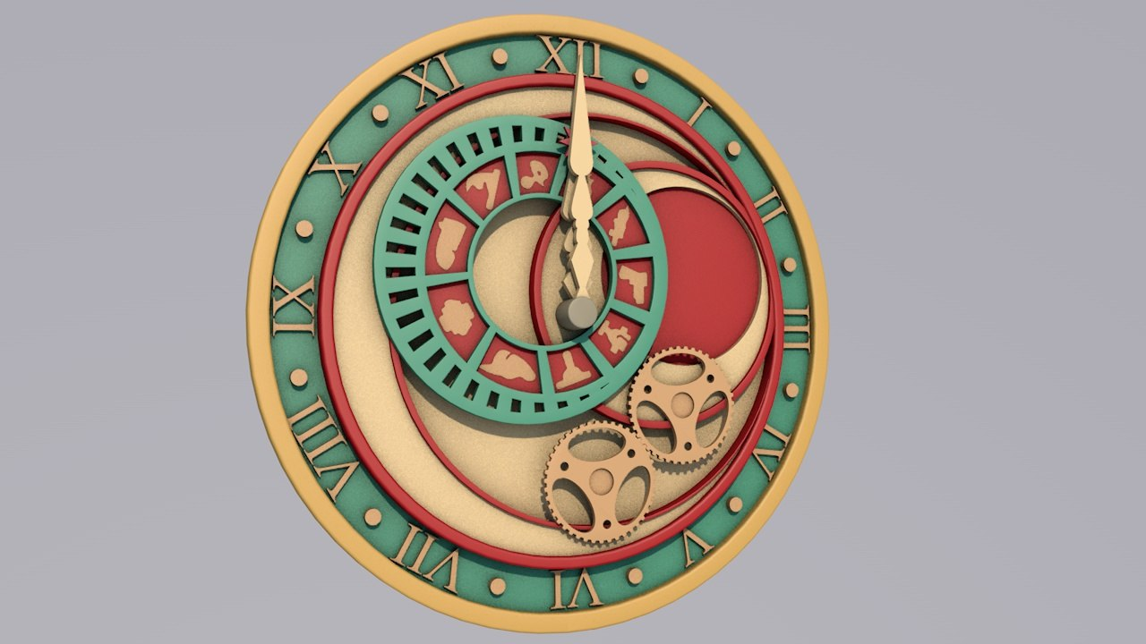 kamen cronus clock 3D model