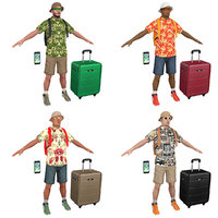 3D pack tourist backpacks man