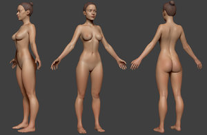 3D female body base