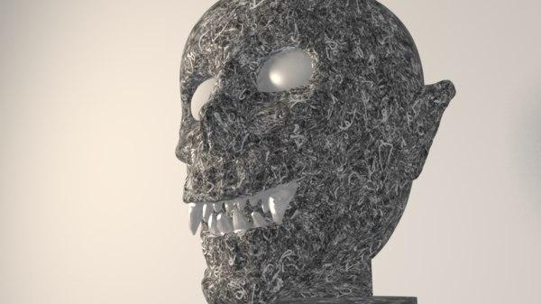 cup vase skeleton 3D model