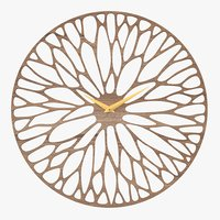 decorative wooden wall clock 3D model