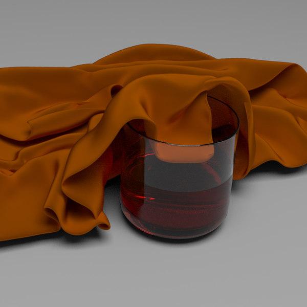 3D model glass l