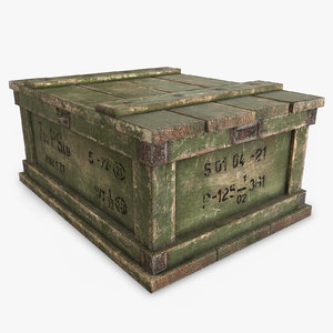 3D military box ar model