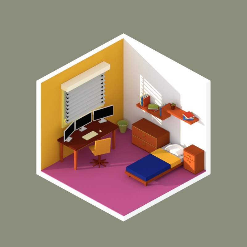 bedroom blender 3D model