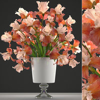 3D model flower bouquet iris