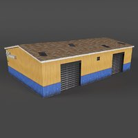 industrial building warehouse 3D model