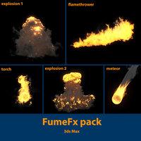 3D model pack fumefx explosion