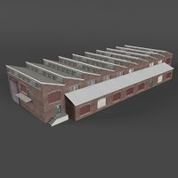 3D industrial building warehouse