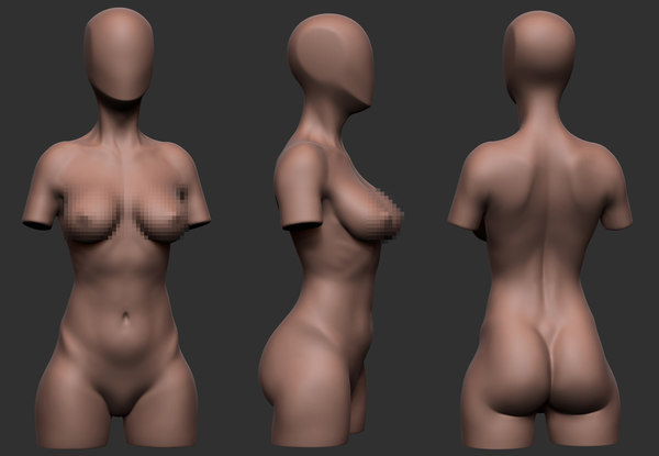 Infidelity Female Torso Turbosquid Pictures 1