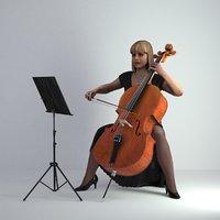 3D Scan Woman Musician 005