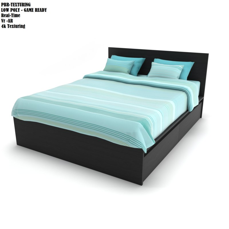 bed modern style 3D model