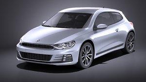 3D model 2015 volkswagen scirocco