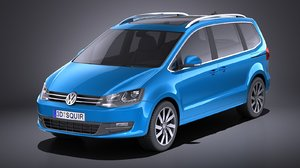 2016 volkswagen sharan 3D model