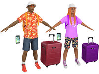 pack 2 tourist 3D model