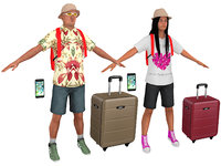 3D pack tourist 3 model