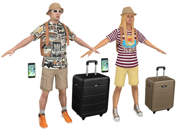 3D pack tourist