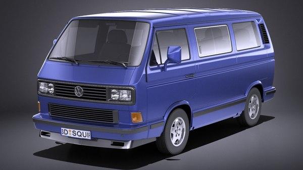 volkswagen t3 limited 3D model