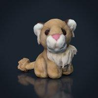 lion stuffed animal 3D model