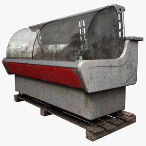 3D refrigeration showcase model