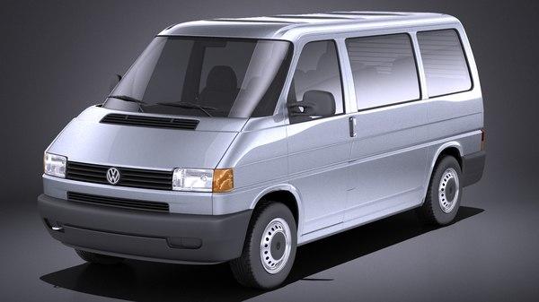 3D van 1990 volkswagen model