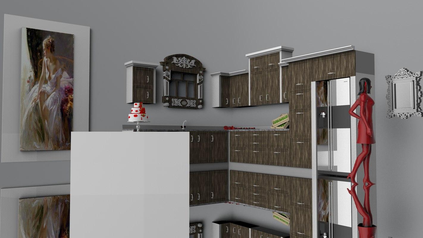 3D apple kitchen sink