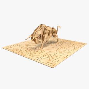bull laser cut model
