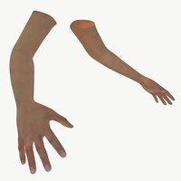 3D hands model