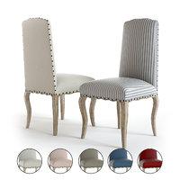 3D pottery barn calais dining chair