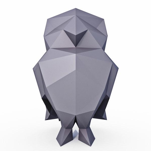 little owl 3D model