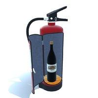3D extinguisher bar model