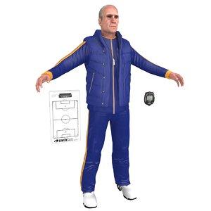 3D model soccer coach