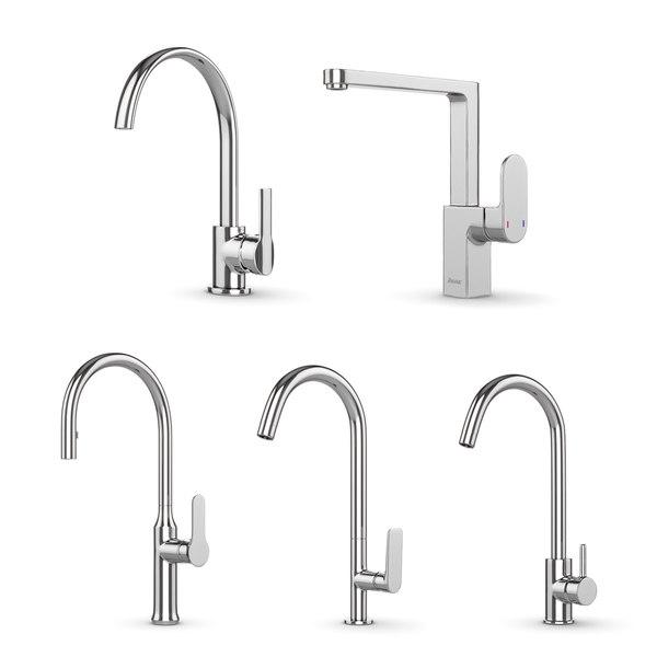 set kitchen faucets ravak 3D model