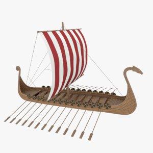 3D viking boat