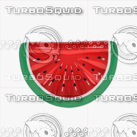 3D model inflatable watermelon pool float