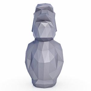 moai 3D model