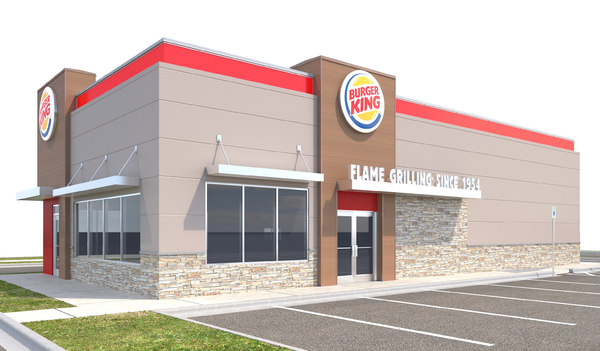 burger king site curbs 3D model