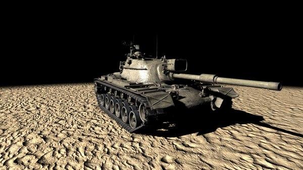 m48a5 tank 3D model