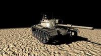3D m48a5 tank model