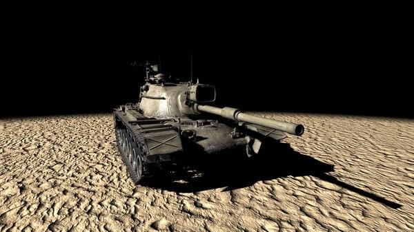 3D model m48a5 tank
