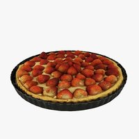 3D strawberry pie