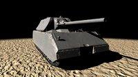 maus super heavy tank 3D model