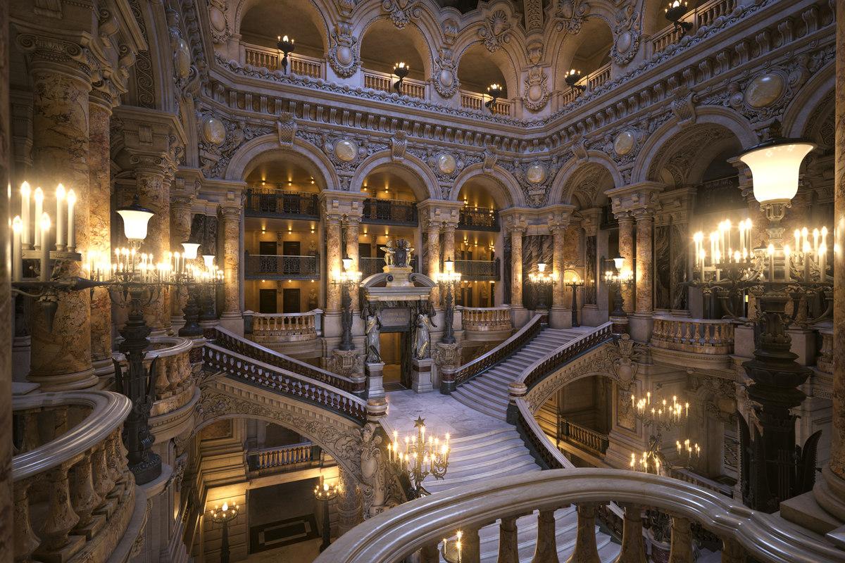 opera garnier - staircase 3D model