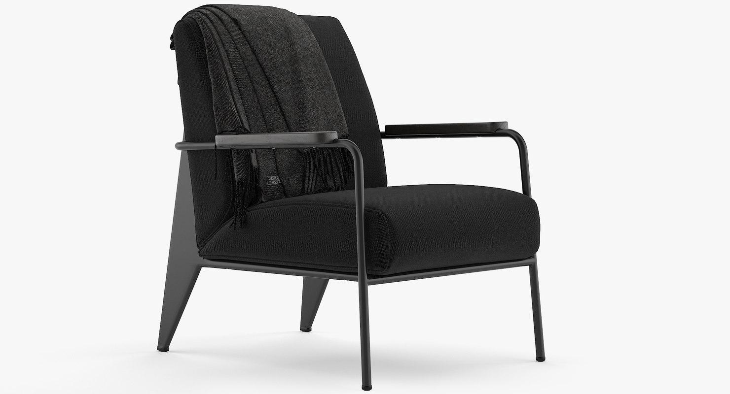 3D vitra fauteuil salon model