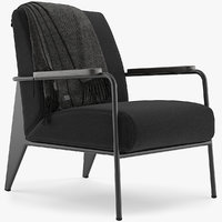 3D vitra fauteuil salon model