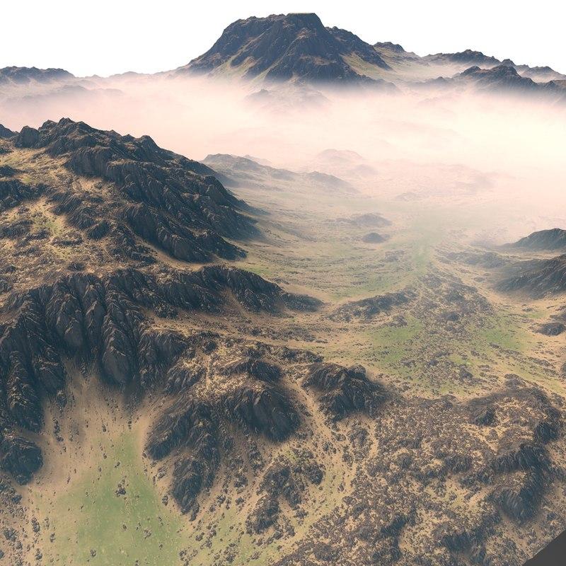 green terrain 3D