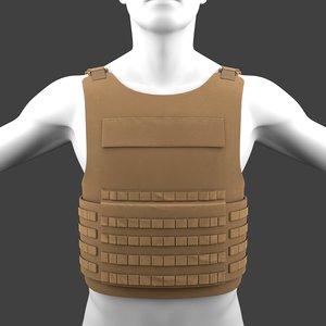 3D military flak jacket bullet model