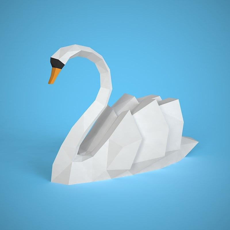 swan style 3D model