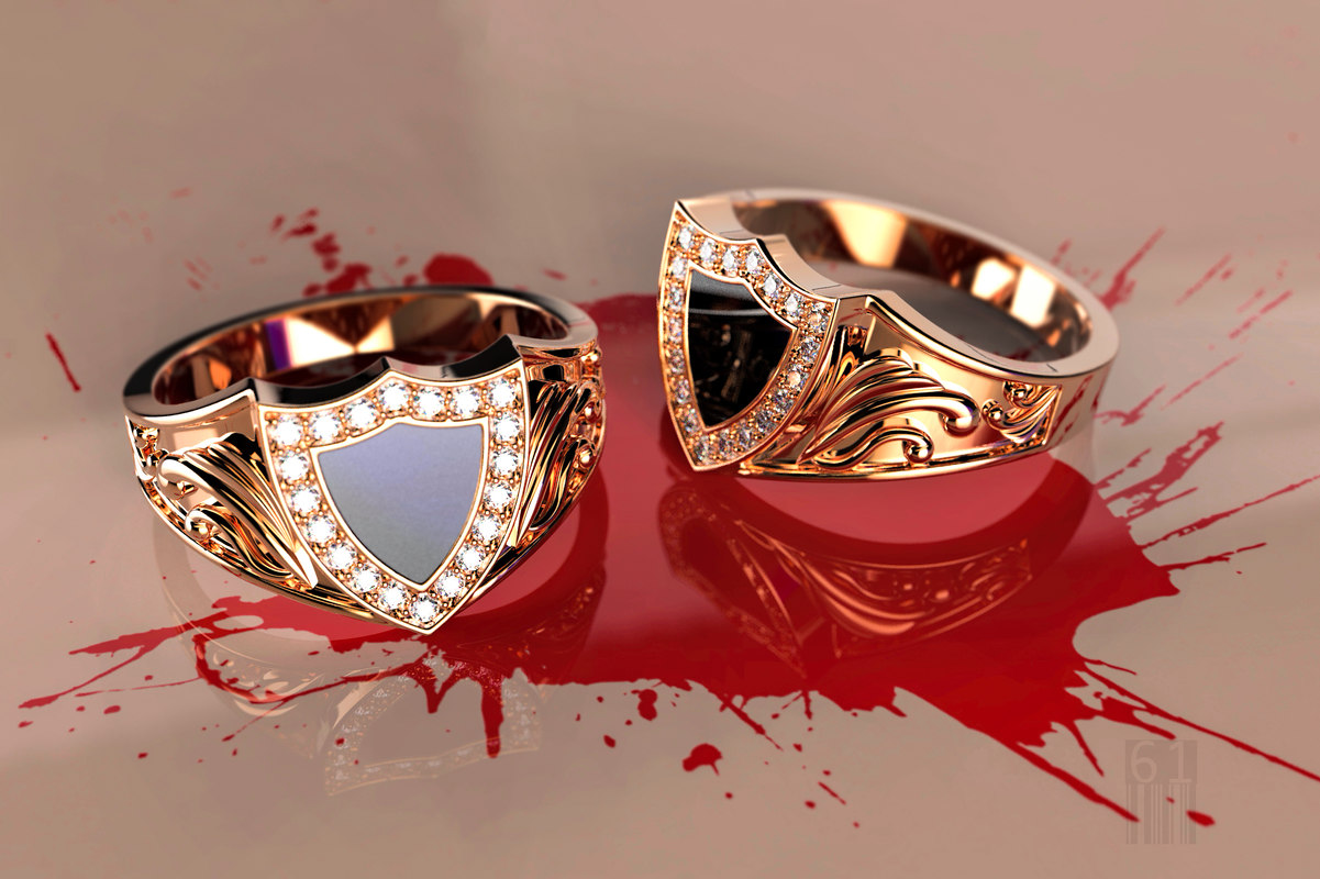 ring stones enamel 3D model