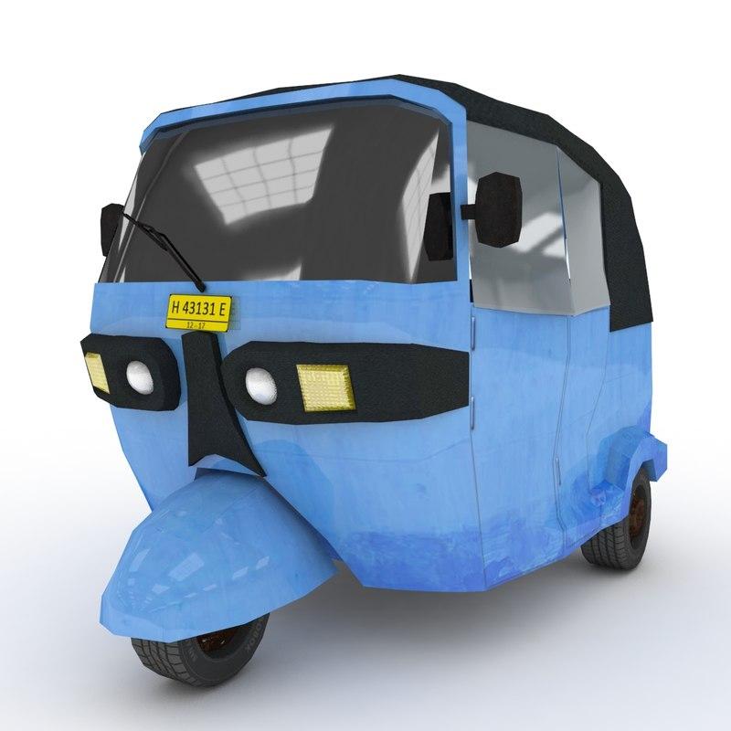 blue wheeler 3D