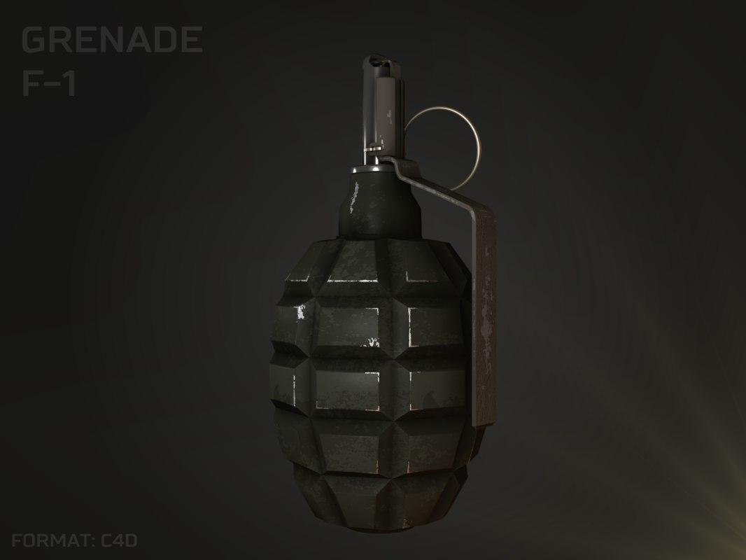 grenade f-1 3D model